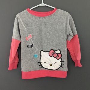 Hello Kitty pink & grey long sleeved shirt